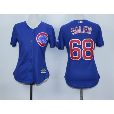 MLB Chicago Cubs 68 Jorge Soler Blue Cool Base Baseball Women Jersey