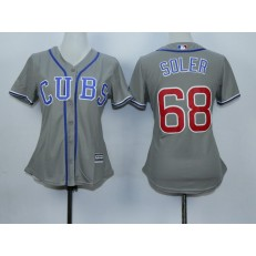 MLB Chicago Cubs 68 Jorge Soler Grey Alternate Road Stitched Baseball Women Jersey