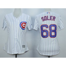 MLB Chicago Cubs 68 Jorge Soler White Home Cool Base Baseball Women Jersey