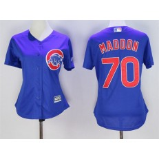 MLB Chicago Cubs 70 Joe Maddon Blue Cool Base Baseball Women Jersey