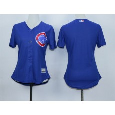 MLB Chicago Cubs Blank Blue Cool Base Baseball Women Jersey
