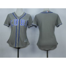 MLB Chicago Cubs Blank Grey Alternate Road Stitched Baseball Women Jersey
