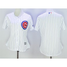 MLB Chicago Cubs Blank White Home Cool Base Baseball Women Jersey