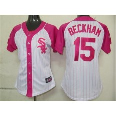 MLB Chicago White Sox 15 Gordon Beckham 2012 Fashion by Majestic Athletic Women Jersey