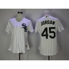MLB Chicago White Sox 45 Michael Jordan White Cool Base Women Jersey