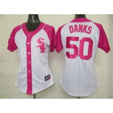 MLB Chicago White Sox 50 John Danks 2012 Fashion by Majestic Athletic Women Jersey
