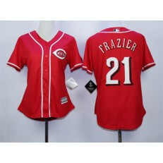 MLB Cincinnati Reds 21 Todd Frazier Red Alternate Cool Base Stitched Women Jersey