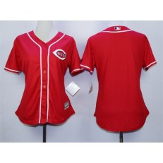 MLB Cincinnati Reds Blank Red Alternate Cool Base Stitched Women Jersey