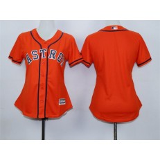 MLB Houston Astros Blank Alternate Orange 2015 Cool Base Women Jersey
