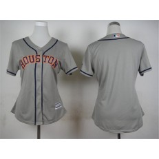 MLB Houston Astros Blank Away Gray 2015 Cool Base Women Jersey