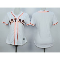 MLB Houston Astros Blank Home White 2015 Cool Base Women Jersey