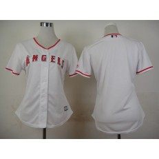 MLB LA Angels Of Anaheim Blank Home White 2015 Cool Base Women Jersey