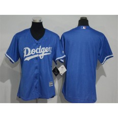 MLB Los Angeles Dodgers Blank Alternate Blue Cool Base Women Jersey