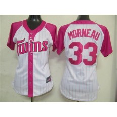 MLB Minnesota Twins 33 Justin Morneau 2012 Fashion by Majestic Athletic Women Jersey