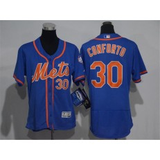 MLB New York Mets 30 Michael Conforto Blue With Orange 2016 Flexbase Stitched Baseball Women Jersey