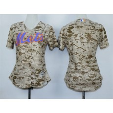 MLB New York Mets Blank 2015 Camo Women Jersey