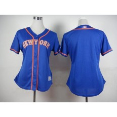 MLB New York Mets Blank Blue With Gray Women Jersey