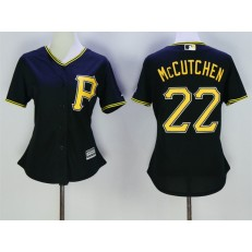 MLB Pittsburgh Pirates 22 Andrew McCutchen Black Alternate Stitched Women Jersey