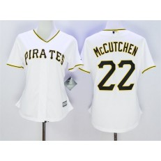 MLB Pittsburgh Pirates 22 Andrew McCutchen White 2015 Cool Base Women Jersey