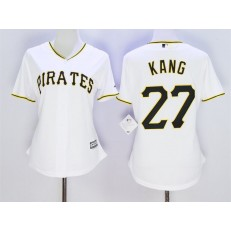 MLB Pittsburgh Pirates 27 Jung-ho Kang White 2015 Cool Base Women Jersey