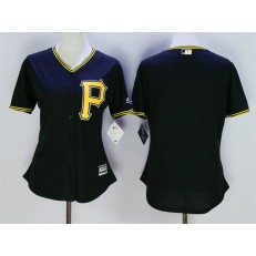 MLB Pittsburgh Pirates Blank Black Alternate Stitched Women Jersey