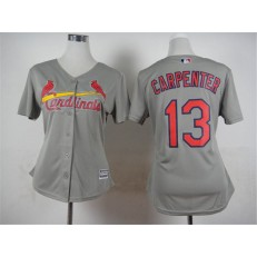 MLB St.Louis Cardinals 13 Matt Carpenter 2015 Grey Women Jersey