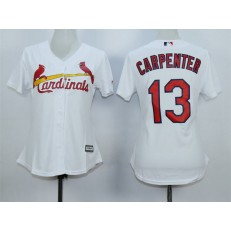 MLB St.Louis Cardinals 13 Matt Carpenter 2015 White Women Jersey
