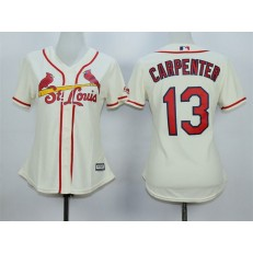 MLB St.Louis Cardinals 13 Matt Carpenter Alternate Cream 2015 Cool Base Women Jersey