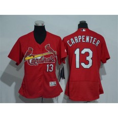 MLB St.Louis Cardinals 13 Matt Carpenter Retired Red 2016 Flexbase Stitched Baseball Women Jersey