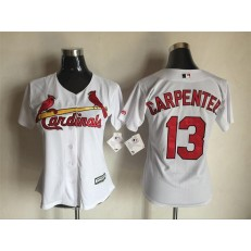 MLB St.Louis Cardinals 13 Matt Carpenter White Women Jersey
