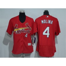 MLB St.Louis Cardinals 4 Yadier Molina Retired Red 2016 Flexbase Stitched Baseball Women Jersey