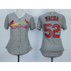MLB St.Louis Cardinals 52 Michael Wacha 2015 Grey Women Jersey