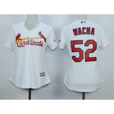 MLB St.Louis Cardinals 52 Michael Wacha 2015 White Women Jersey