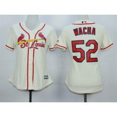MLB St.Louis Cardinals 52 Michael Wacha Alternate Cream 2015 Cool Base Women Jersey