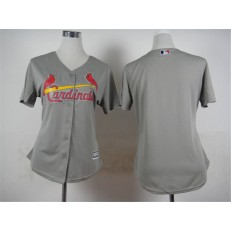 MLB St.Louis Cardinals Blank 2015 Grey Women Jersey