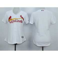MLB St.Louis Cardinals Blank 2015 White Women Jersey
