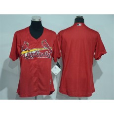 MLB St.Louis Cardinals Blank Red Cool Base Baseball Women Jersey