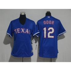 MLB Texas Rangers 12 Rougned Odor Blue Alternate Stitched Women Jersey