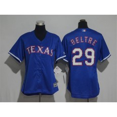 MLB Texas Rangers 29 Adrian Beltre Blue Alternate Stitched Women Jersey