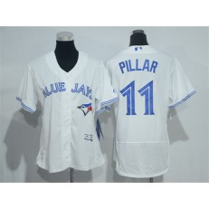 MLB Toronto Blue Jays 11 Kevin Pillar White Flexbase 2016 Player Women Jersey