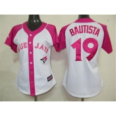 MLB Toronto Blue Jays 19 Jose Bautista 2012 Fashion by Majestic Athletic Women Jersey