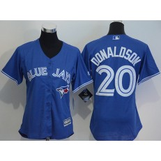 MLB Toronto Blue Jays 20 Josh Donaldson Blue Alternate Stitched Baseball Women Jersey