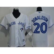 MLB Toronto Blue Jays 20 Josh Donaldson White Home Stitched Baseball Women Jersey