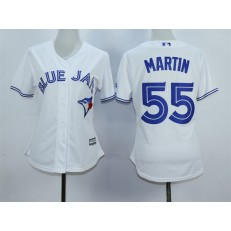 MLB Toronto Blue Jays 55 Russell Martin White Home Cool Base Baseball Women Jersey