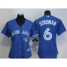 MLB Toronto Blue Jays 6 Marcus Stroman Blue Alternate Stitched Baseball Women Jersey