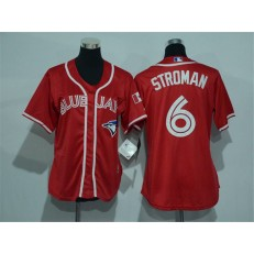 MLB Toronto Blue Jays 6 Marcus Stroman Red Canada Day Stitched Baseball Women Jersey