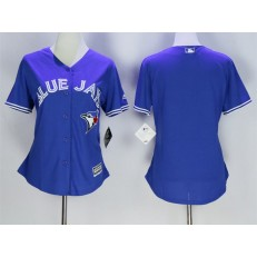 MLB Toronto Blue Jays Blank Blue Alternate Stitched Baseball Women Jersey