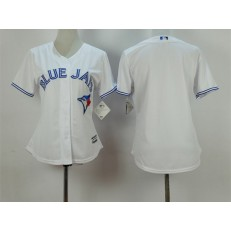 MLB Toronto Blue Jays Blank White Home Cool Base Baseball Women Jersey