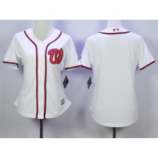 MLB Washington Nationals Blank Home White 2015 Cool Base Women Jersey