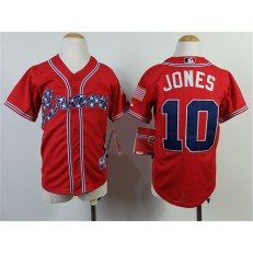 MLB Atlanta Braves 10 Chipper Jones 2014 Red Youth Jersey